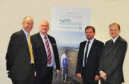 Left to right:   Richard Lole Chief Executive Officer in DEFA, Chief Minister Howard Quayle MHK,  DEFA Minister Geoffrey Boot and Peter Longworth Environmental Protection Officer